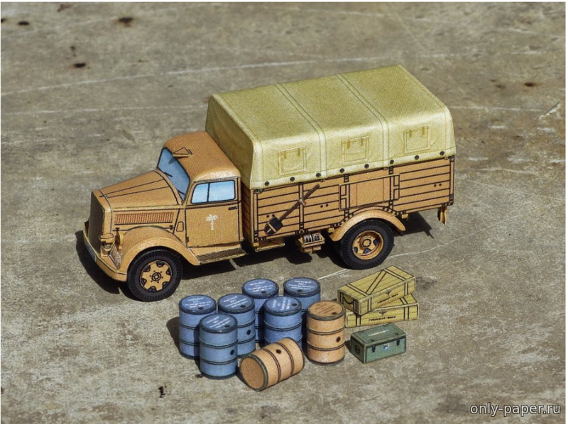 Военный грузовик из бумаги, модели бумажные скачать ...