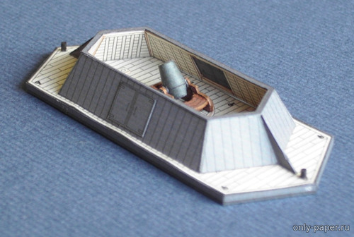 Бумажная модель Mortar Barge No. 10 (Paper Shipwright)