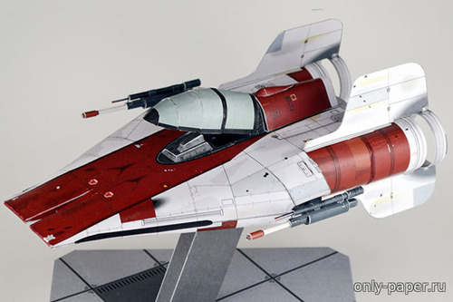 Бумажная модель RZ-1 A-Wing Interceptor (Star Wars)