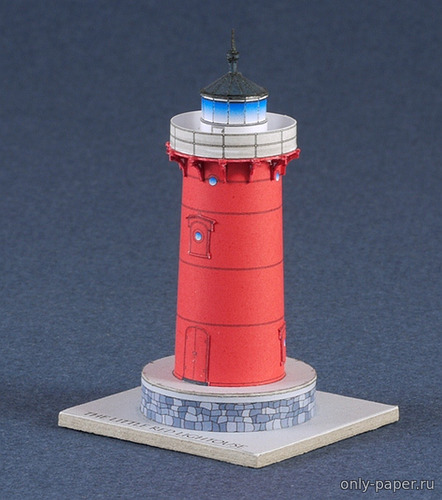 Бумажная модель Jeffrey's Hook Lighthouse (The Little Red Lighthouse)