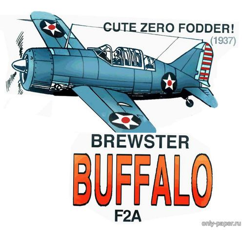 Бумажная модель Brewster Buffalo F2A (Fiddlers Green)