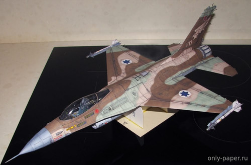 Бумажная модель General Dynamics F-16 Fighting Falcon Israel Air Force