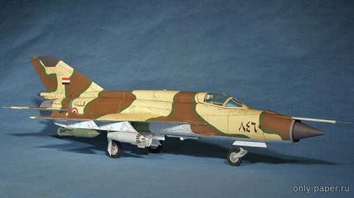 Бумажная модель MIG-21MF Egyptian Air Force (Paper Aircraft Models)