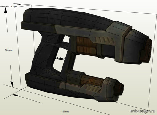 Сборная бумажная модель The Guardians of the Galaxy - Star Lord's Quad Blaster (L-Paper)