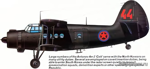 Бумажная модель North Korea Black Ops Antonov An-2 (Bruno VanHecke - TigerTony100)