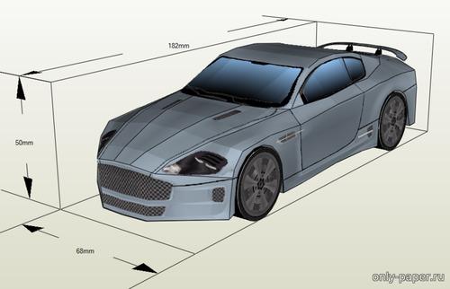 Модель автомобидя Aston Martin DB9 из бумаги/картона
