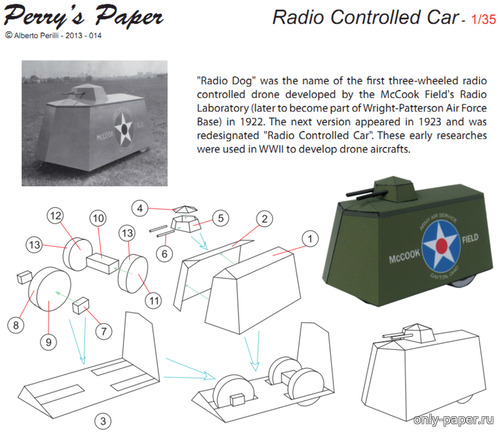 Бумажная модель Radio Conrolled Car [Perry's Paper]