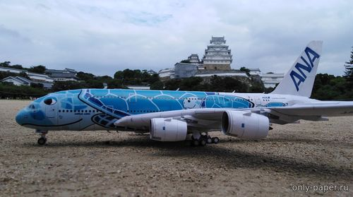 Бумажная модель Airbus A380-800 All Nippon Airways (Hermercraft)