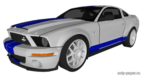 Бумажная модель Ford Mustang Shelby GT500 KR (Sedan)