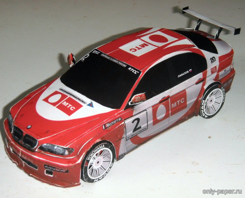 Бумажная модель BMW 320i E46 RTCC 2006 MTS Team #02, 06, 69 [Atlantic3D]