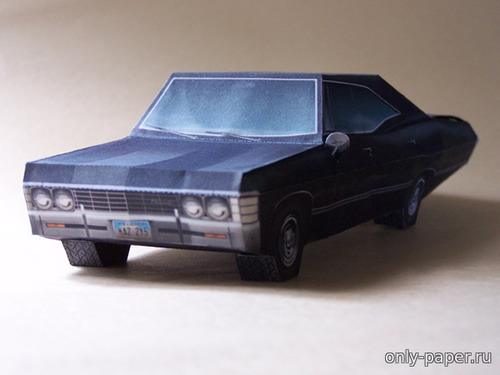 "Бумажная модель ""Supernatural"" 1967 Chevrolet Impala"