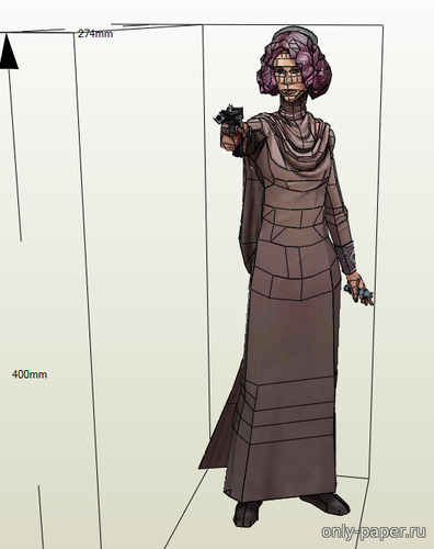 Бумажная модель Admiral Amilyn Holdo - Star Wars