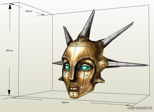 Бумажная модель Enigma Mask (Unreal Tournament 2004)