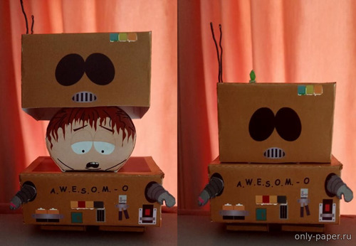 Бумажная модель Робот A.W.E.S.O.M. - O из м/с Саус Парк / A.W.E.S.O.M. - O Robot (Eric Cartman) from South Park