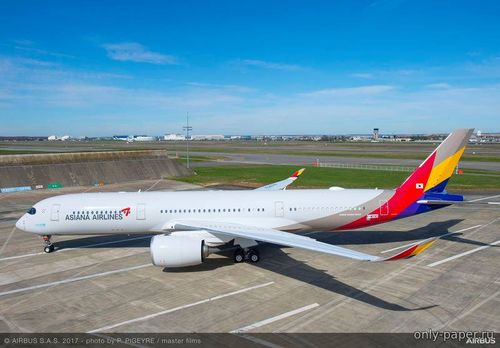 Бумажная модель Airbus A350-900 Asiana Airlines (Edwin Rodriguez - Christopher Roden)