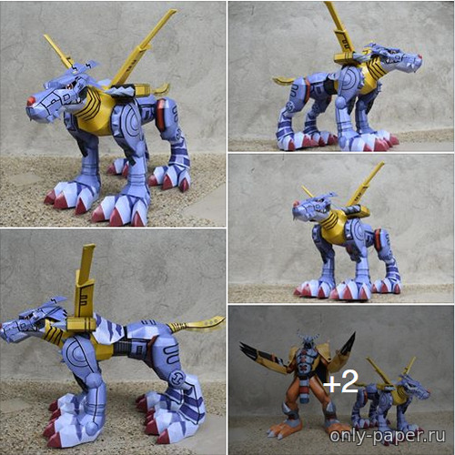 Сборная бумажная модель Digimon Adventure - MetalGararumon (JavPapercraft)