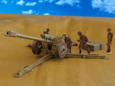 Модель 122-мм гаубицы Д-30 из бумаги/картона