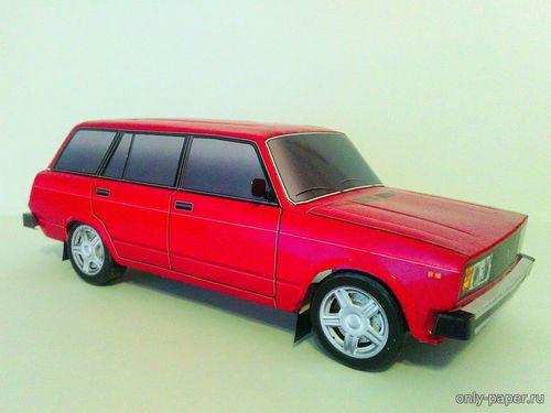 Сборная бумажная модель ВАЗ-2104 версия 2.0 - 9 вариантов раскраски (Алексей Киржаев и Денис Махнёв)