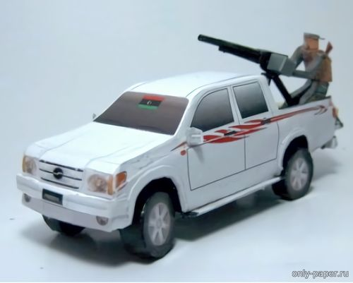 Бумажная модель Libyan ZX Auto based technical