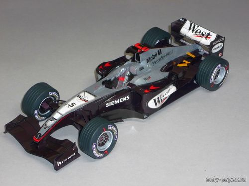 Бумажная модель McLaren MP4-19 Monaco GP 2004 David Coulthard / Kimi Räikkönen (Forum Team)