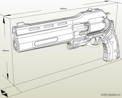 Модель револьвера The Last Word из бумаги/картона