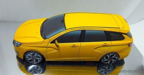 Сборная бумажная модель Лада Веста SW ребилд / Lada Vesta SW rebuild (Kirzik)