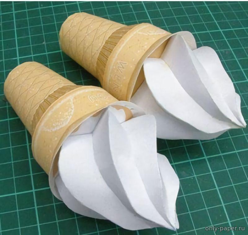 Как сделать из бумаги рожок