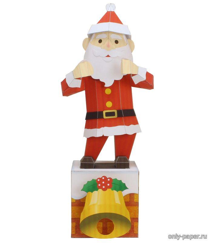 Санта клаус из бумаги схемы