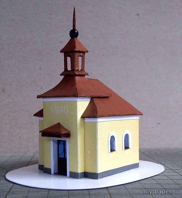 Как сделаем из бумаги церковь 676