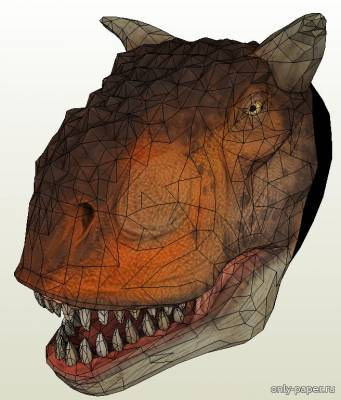 Бумажная модель Alfred the Carnotaurus (PayDay 2) [AVP Industries]