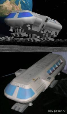 Модель Лунного автобуса из бумаги/картона