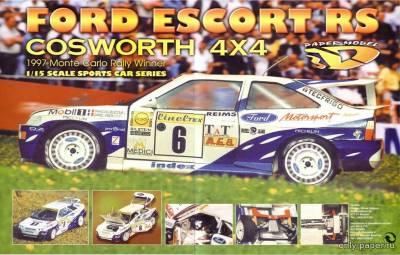 Модель Ford Escort RS Cosworth 4x4 из бумаги/картона