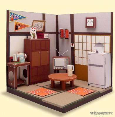 Модель комнаты из бумаги/карта