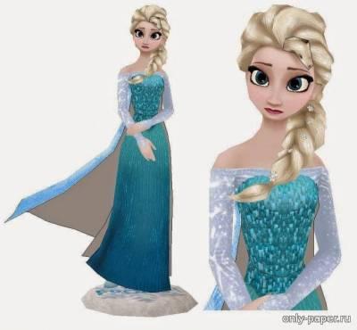 Модель Снежной королевы Эльзы из бумаги/картона