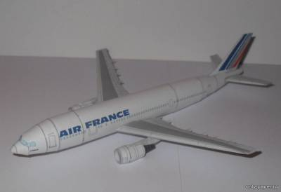 Бумажная модель Airbus A300-600 Air France (Bruno VanHecke)