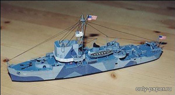 Военный корабль поделка