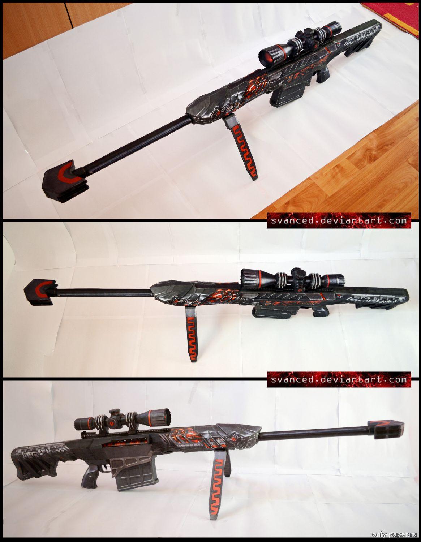 Модель снайперская винтовка своими руками