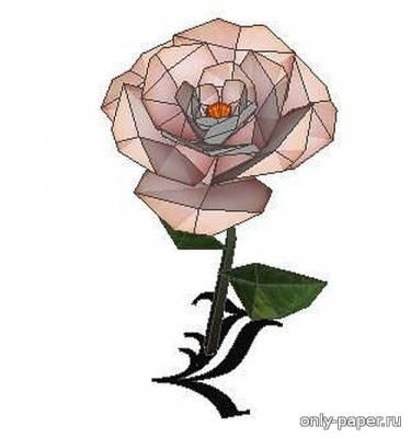 Модель розы из бумаги/картона