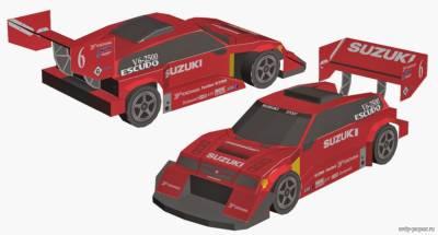 Модель автомашины Suzuki Escudo Pikes Peak из бумаги/картона