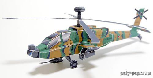 Модель ударного вертолета AH-64D Apache из бумаги/картона
