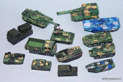 Бумажная модель People's Liberation Army set - China Army (PR Models)