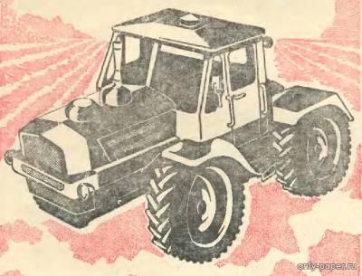 Модель трактора Т-150К из бумаги/картона