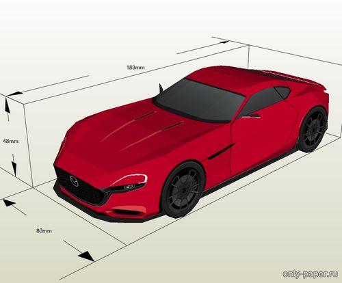 Модель автомобиля Mazda RX-Vision Concept из бумаги/картона
