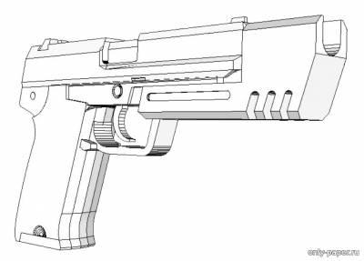 Бумажная модель пистолета Heckler & Koch USP