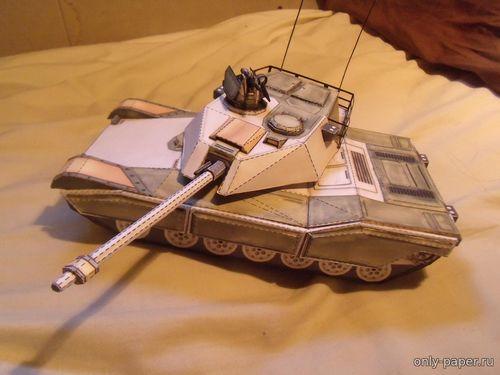 Модель Sabre Main Battle Tank из бумаги/картона