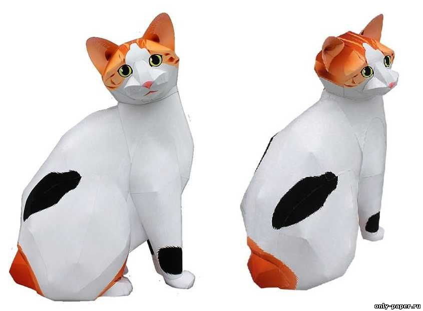 Бумажные кошки своими руками 1