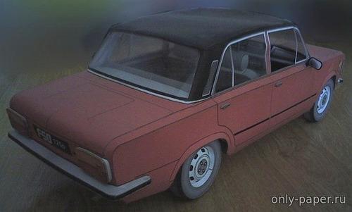 Модель автомобиля FSO 125p из бумаги/картона