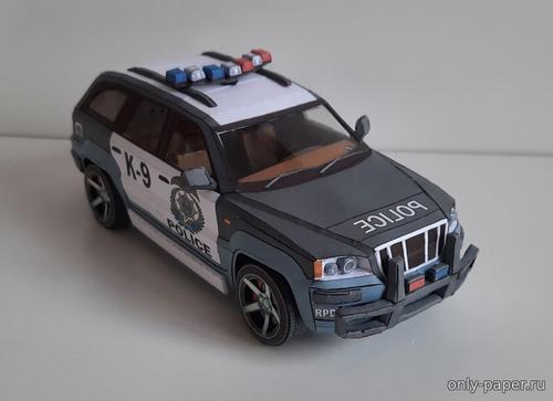 Модель автомашины Most Wanted Rhino Police из бумаги/картона