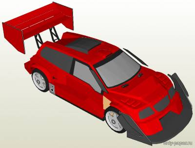 Модель автомашины Suzuki Escudo Pikes Peak 1996 из бумаги/картона