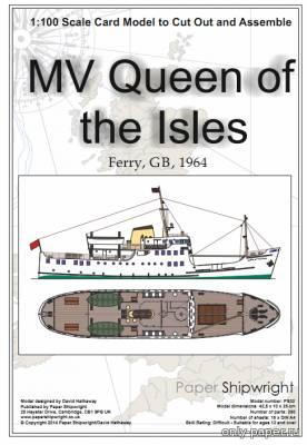 Модель корабля Queen of the Isles из бумаги/картона